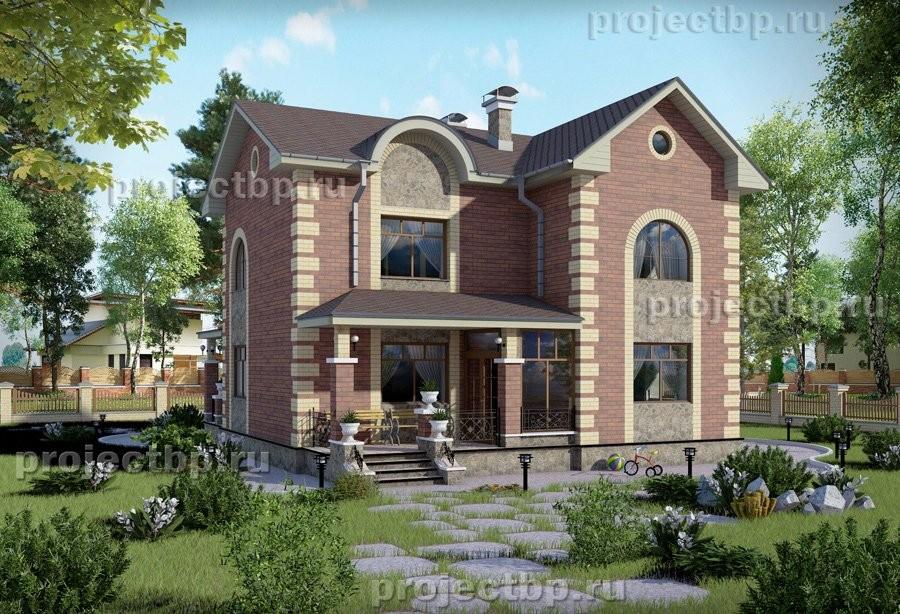 Проект двухэтажного дома в классическом стиле. 131-B